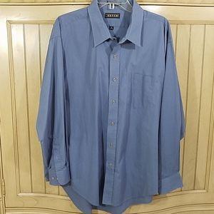 Ketch Blue Dress Button Down, sz 19/34-35